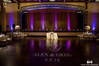 Lighting-Tempoe-Entertainment-Alex-Greg-Customized-Monogram